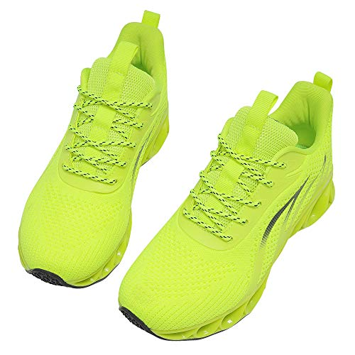 MOSHA BELLE Women Sneakers Casual Ladies Fashion Youth Girls Teen Runners Sport Wedding Business Tennis Shoes Neon Green Size 9.5