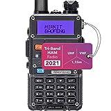 Mirkit x Baofeng Radio UV-5R MK3X 5 Watt FCC Approved 2021 2100 mAh Li-ion Battery, Tri-Band Radio Mirkit Edition and Neck Strap Lanyard Mirkit Ham Radio Operator