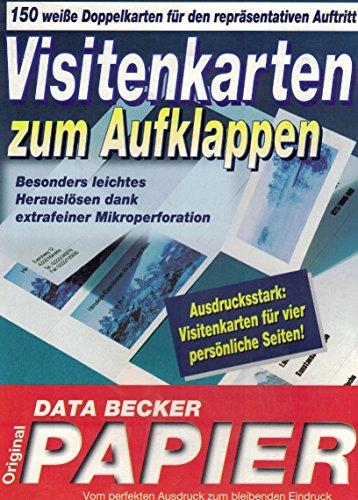 DATA BECKER Visitenkarten zum Aufklappen