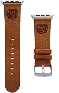Affinity Bands Missouri State Bears 22mm Premium Leather Watch Band - Compatible with Samsung, Garmin, Fossil Fitbit and More.