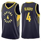 XXMM Camiseta para Hombre - NBA Indiana Pacers # 4 Victor Oladipo Camiseta De Baloncesto, Casual, Deportiva, De Malla Transpirable, Absorbente De Sudor, Sin Mangas,Negro,XL(180~185CM)
