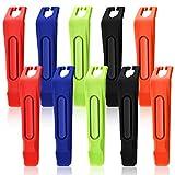 Boao 10 Piezas Palanca de Neumático de Bicicleta Herramienta de Neumático de Plástico para Reparación Cambio de Neumáticos, 5 Colores
