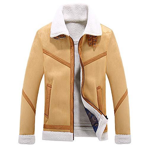 Heren korte leren jas, effen gekleurde shirt kraag met lange mouwen PU