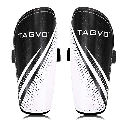 TAGVO Football Shin Guards, Great Performance Soccer Shin Pads for Boys Girls, Kids Youth Lightweight Soccer Equipment with Adjustable Straps