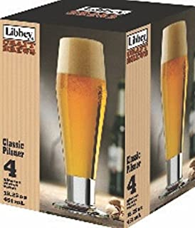 Libbey Craft Brews 15.25-Ounce Clear Pale Ale Glass Set, 4-Piece