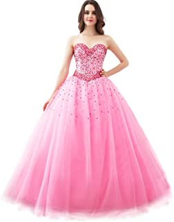 FASHION DRESS Sweetheart Floor Length Tulle Ball Gown Prom Dress