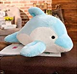 Cxjff Peluche Peluche Dolphin Poupées en Peluche Animaux Oreiller Kawaii Bureau Nap - Juguete para niños (30 cm)