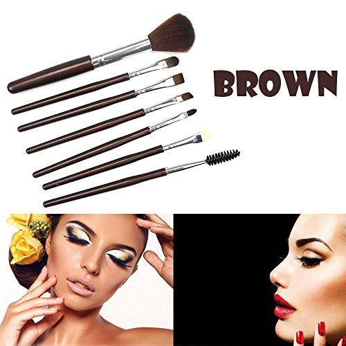 7 Cils Poignée En Plastique Rouge Fard à Paupières Pinceau Maquillage Café Composé Sac Rawdah 7 Pcs Silicone Makeup Brush EyeShadow Brush Cosmetics Blending Brush Tool