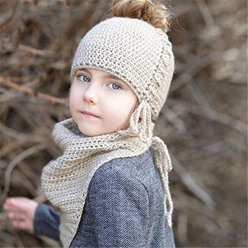 Tyueliang-Kleding Kids Sneeuw Hoeden Kids Peuter Hoed En Sjaal Breien Patroon Sjaal Cap Voor 2-6 Jaar Meisjes En Jongens Kids Sneeuw Hoeden