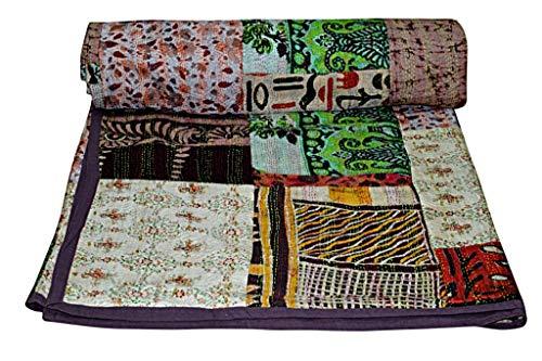 Yuvancrafts - Quilt aus reiner Baumwolle und traditionellem...