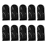 Homyl 10 Pieces Portable Dustproof Hair Extensions Wigs Stand Storage Case Carrier Bag Holder Protector Pouch with Zipper Folding Hanging Hair Extensions Hairpieces Bag for Travel Daily Use