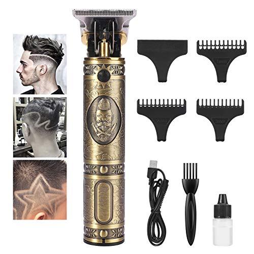 YOUKUKE Cortapelos para Hombres, Cortapelos Eléctrico con 4 Peines Guía, Profesional Recortadora para Barba y Pelo con Aceite de peluquería para Pelo, Facial y Cabeza