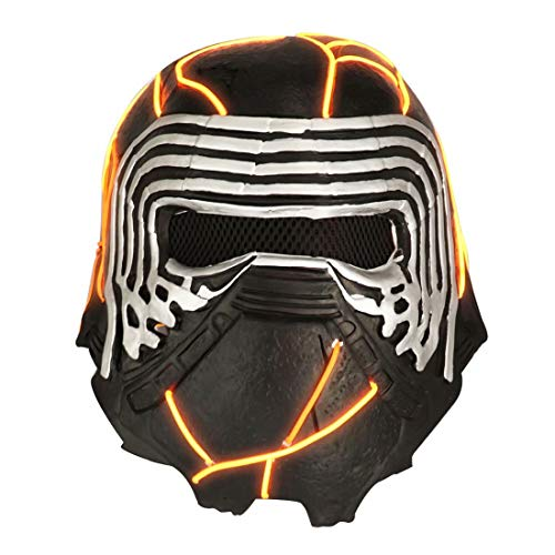 LED Light Up Kylo Ren Helmet Mask with Voice Changer, Latex Electronic...