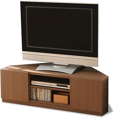 テレビ台 コーナー キャスター付き 幅110×奥行48×高さ36cm ブラウン 97420