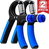 Grip Strength Trainer - 2 Pack Hand Grip Strengthener W/Adjustable Resistance...