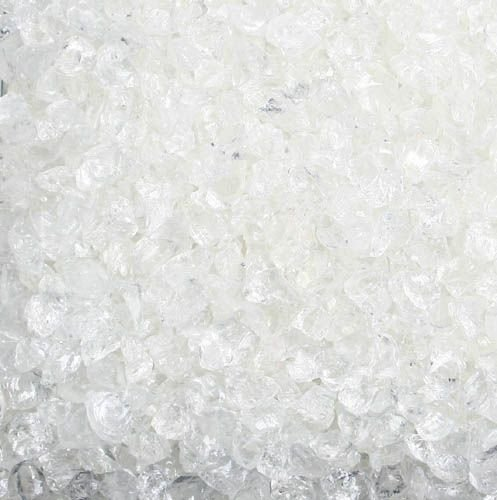 Glas-Steine / Glas-Granulat (4-10 mm), 1 kg, natur-klar
