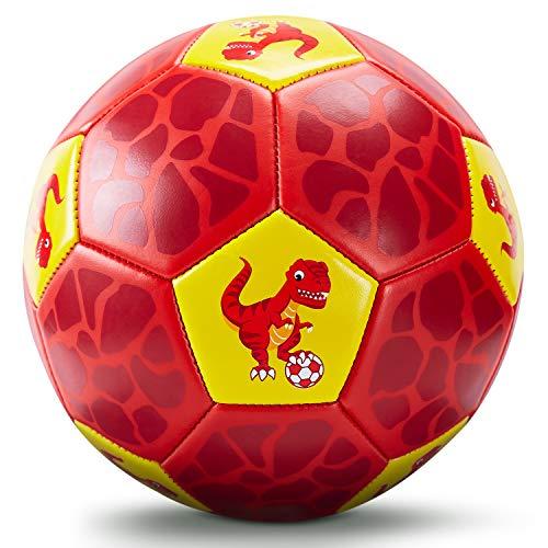 Fußball Spielzeug Mit Ballpumpe und Netz, Kinder Fußball Ball für das Training Drinnen Draußen, Fußball Größe 3 Dinosaurier Geschenke Spielzeug für 2 3 4 5 6 7 8 Jahre alt Kinder Junge Mädchen
