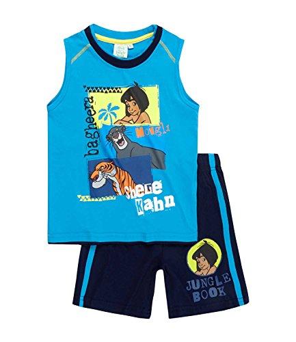 Disney Das Dschungelbuch Jungen T-Shirt und Bermuda - blau - 116