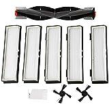 Iycorish Lot de 2 brosses latérales pour filtres Hepa Neato Botvac D3 D4 D5 D6 D7 D70 D75 D80 D85...