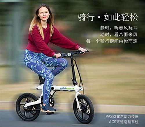 SHIJING Bicicleta Plegable Mini energía eléctrica de Litio Inteligente Ciclismo batería Tendencia...