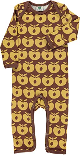 Smafolk Bodysuit mit Allover Print Motiv: Classic Apple Limited Edition Retro braun Zimt Groesse 98
