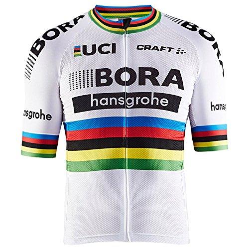 自転車ウェア 2017 Bora Hansgrohe エアロ半袖ジャージ Mサイズ 世界チャンピオン仕様