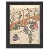 Printed Paintings Marco Americano (40x55cm): Ishikawa Toyomasa - El Noveno Mes