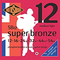 Rotosound ロトサウンド アコースティックギター弦 Phosphor Bronze/Medium Light (.012-.054) SB12
