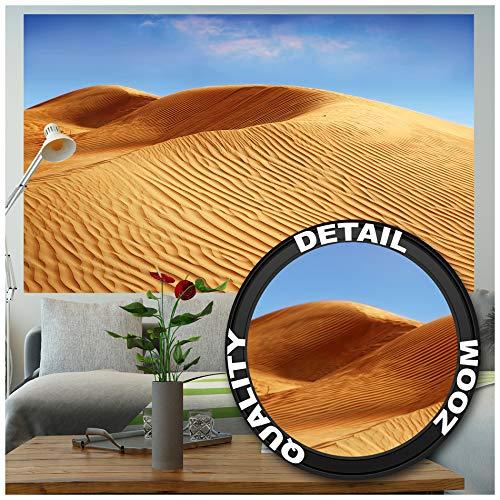 Great Art Muurafbeelding – Dünen Landschap – muurschildering decoratie Sahara woestijn natuur landschap zand duinen dessert zandwoestijn zon hemel fotobehang wandbehang fotoposter wanddecoratie (210 x 140 cm)