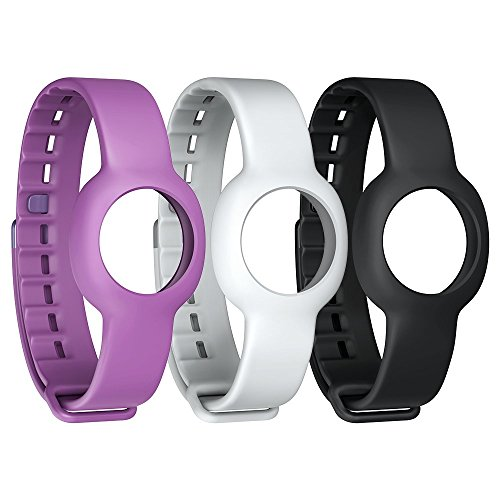 Jawbone UP Move Standard-Armband (3-er Pack) schwarz/grau/lila für UP Move Bluetooth-Aktivitäts/Schlaftracker