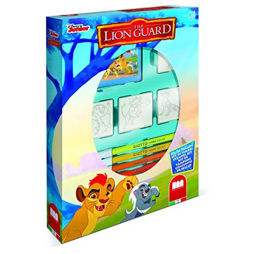 Multiprint Box 4 Timbri per Bambini Disney The Lion Guard, 100% Made in Italy, Set Timbrini Bimbi Personalizzati, in Legno e Gomma Naturale, Inchiostro Lavabile Atossico, Idea Regalo, Art.27946