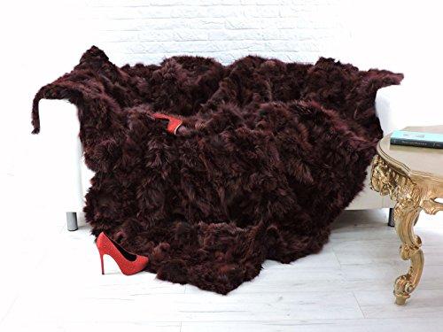CuddlyDreams Luxury Real Fox Throw Blanket 871