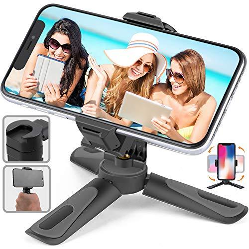 ミニ三脚 スマホスタンド 卓上 スマートフォン用三脚 360度回転 コールドシュー付き iphone卓上三脚 スマホホルダー 小型 持ち運び 角度調整 携帯式 伸縮 軽量 コンパクト 取り外し可能 Stand30G