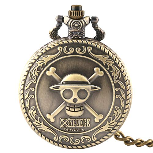 Orologio da uomo, tasca Full Hunter Fashion One Piece Skull quarzo Orologio da tasca...