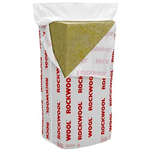 Rockwool RWA45 Acoustic Insulation Slab 1200mm x 600 x 50 Millimetre 9 Pieces Per Pack. 6.48 Square...
