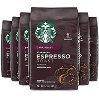 6 Pack Starbucks Espresso Roast Dark Roast Ground Coffee, 12 Ounce Bag