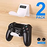 OAPRIRE Game Controller Holder Stand Wall Mount(2 Pack) for PS4 / Xbox One / Steam / Nintendo Switch / PC Controller - Universal PS4 Xbox one Controller Accessories with Cable Clips - Stick on - White