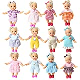 BOBO Clothes Set of 12 for 12-14-16 Inch Alive Lovely Baby Doll Clothes Dress Outfits Costumes Dolly Pretty Doll Cloth Handmade Girl Christmas Birthday Gift