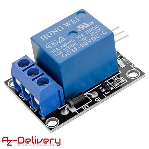 AZDelivery 1-Relais 5V KY-019 Modul High-Level-Trigger kompatibel mit Arduino inklusive E-Book!