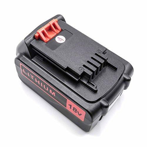 vhbw Li-Ion batería 4000mAh (18V) para herramienta eléctrica powertools tools Black & Decker GXC1000L, HP186F4LK, HP188F4LK, MULTIEVO, STC1820