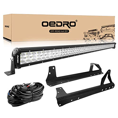 LED Light Bar Tri-row 52 Inch 758W OEDRO Combo Off Road Lights Driving Fog Light Work Lamp + Upper Roof Windshield Mounting Bracket Fit...