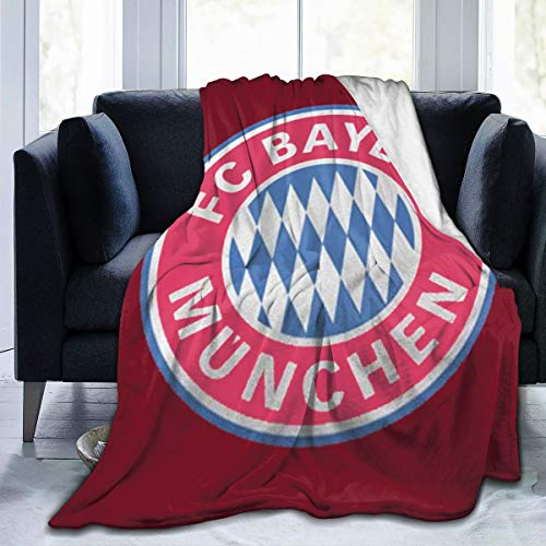 diy-nncase Throw Bayern Munchen FC Blanket Fit Sofa Bed Chair- Fluffy Fleece Blanket Cozy for Couch