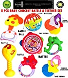 FRATELLI - 8 PC TEETHER RATTLE SET - CONCERT RATTLE