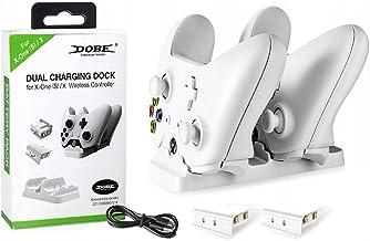 Dock Carregador Controle Xbox One S e X com 2 Baterias Branca