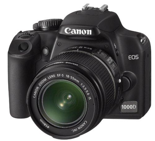 Canon EOS 1000D SLR Fotocamera Digitale Reflex 10 Megapixel + Obiettivo EF-S 18-55mm