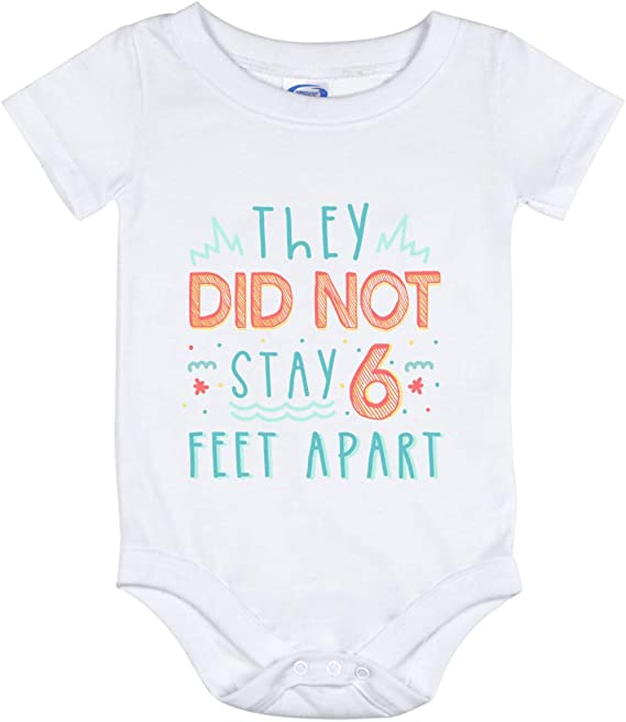 If You Can Read This You\u2019re Not 6ft Away From Me Unisex Baby Bodysuit