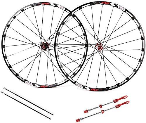 XIAOL mountainbike wielset, 26 inch dubbele muur MTB fiets hybride schijfrem snelle release verzegeld lagers 32 gat 7 8 9 10 snelheid