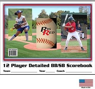 Blazer Athletic 12 Player / 24 Game - Detailed Baseball/Softball Scorebook