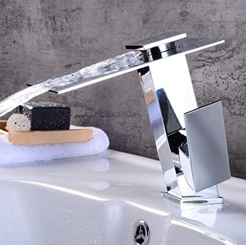 Waschtischarmatur Waschtischarmaturen Chrom Messing Wasserfall Waschbecken Wasserhahn Einhebel Groen Quadratischen Auslauf Deck Montiert Mischer Wasserhahn