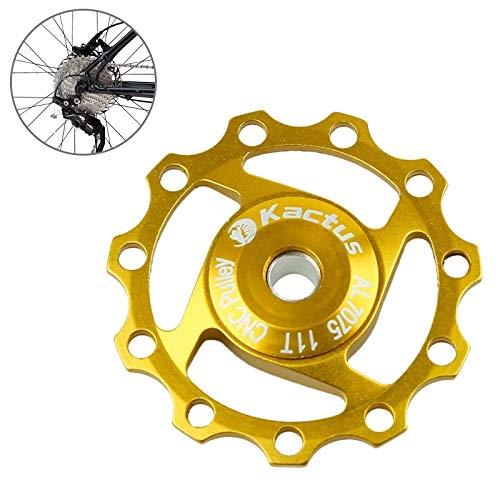 HQ's perfect store Équipement de vélo Dérailleur arrière Jim Aluminium Shimano SRAM 11T Diam Diamètre Intérieur: 5mm ou 6mm Sûr et Pratique (Couleur : Or)